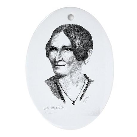 Lydia Maria Child Oval Ornament