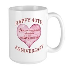 40th. Anniversary Mug