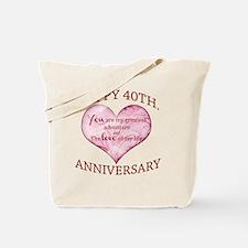 40th. Anniversary Tote Bag