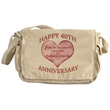40th. Anniversary Messenger Bag