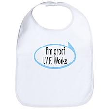 I'm Proof I.V.F. Works Funny Baby/Toddler Bib
