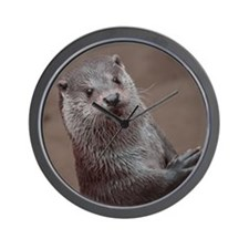 Sweet young Otter Wall Clock