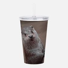 Sweet young Otter Acrylic Double-wall Tumbler