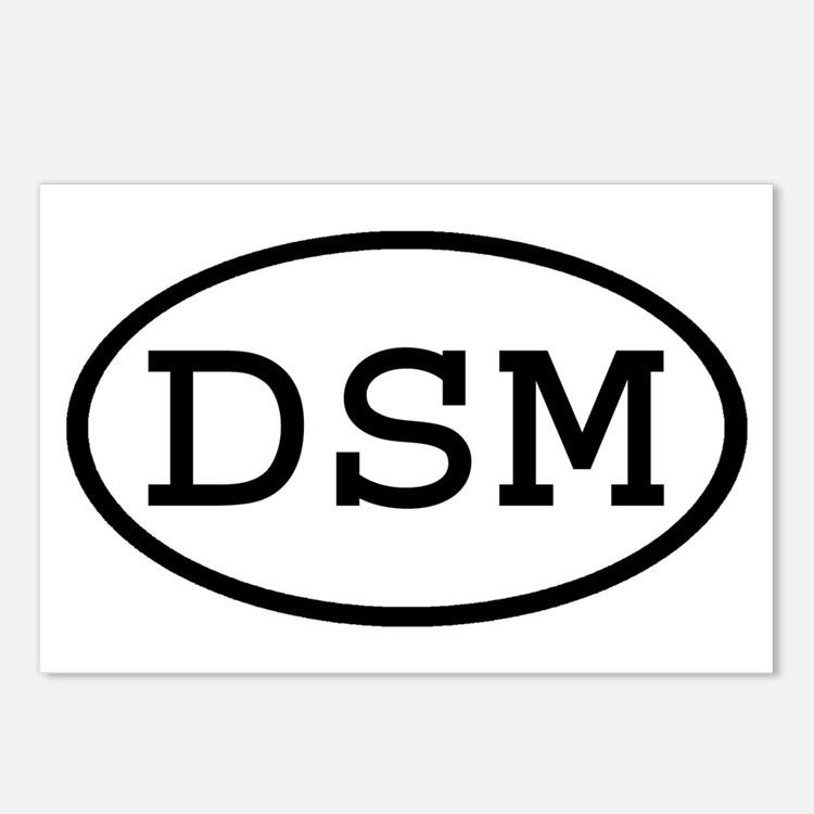 DSM Oval Postcards (Package of 8)