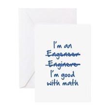 I'm Good With Math Greeting Card