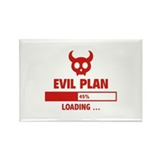 Evil Plan Loading Rectangle Magnet