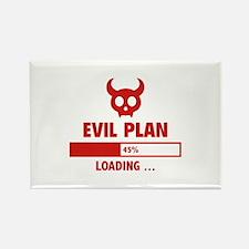 Evil Plan Loading Rectangle Magnet