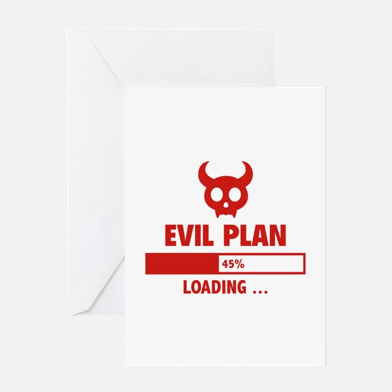 Evil Plan Loading Greeting Card