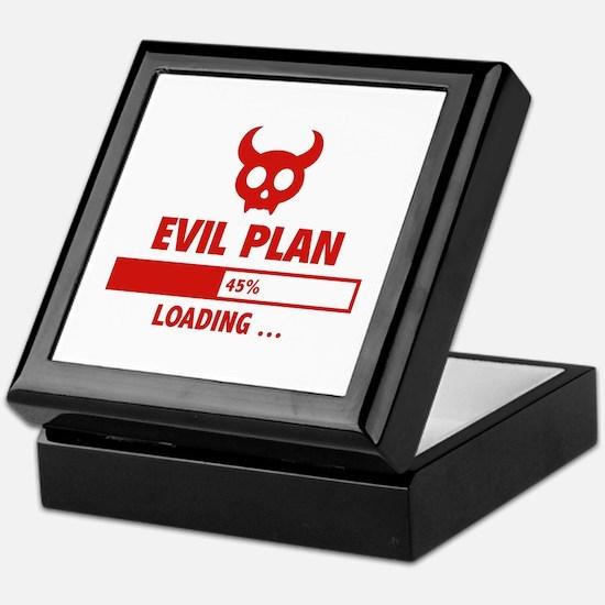 Evil Plan Loading Keepsake Box