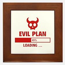 Evil Plan Loading Framed Tile