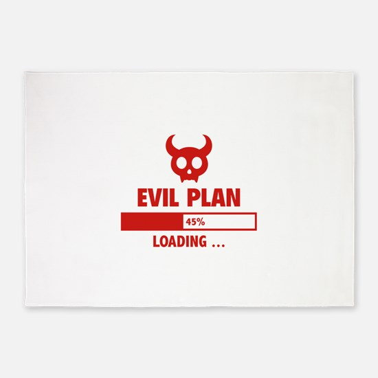 Evil Plan Loading 5'x7'Area Rug