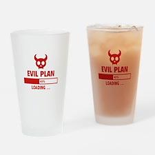Evil Plan Loading Drinking Glass