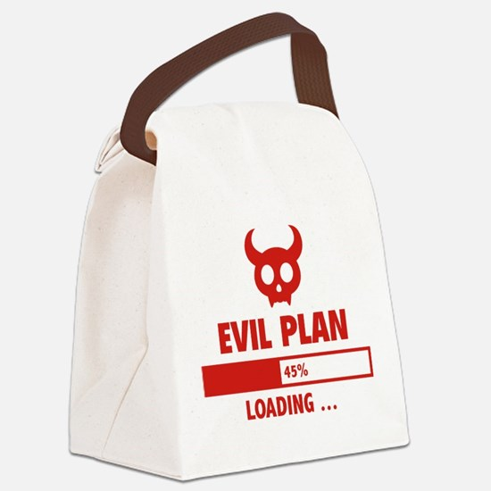 Evil Plan Loading Canvas Lunch Bag
