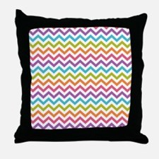 Colorful Chevron Throw Pillow