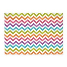 Colorful Chevron 5'x7'Area Rug