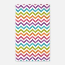 Colorful Chevron Area Rug