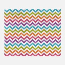 Colorful Chevron Throw Blanket