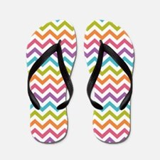 Colorful Chevron Flip Flops