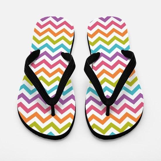 Colorful Chevron Flip Flops