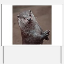 Sweet young Otter Yard Sign