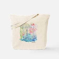 Paris Springtime Tote Bag