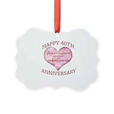 40th. Anniversary Ornament
