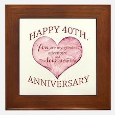 40th. Anniversary Framed Tile