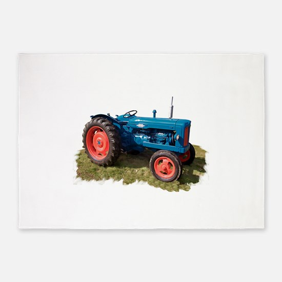 Fordson Vintage Tractor 5'x7'Area Rug