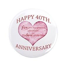 """40th. Anniversary 3.5"""" Button"""