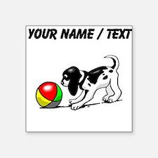 Puppy With Ball (Custom) Sticker