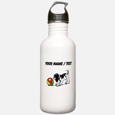 Puppy With Ball (Custom) Water Bottle