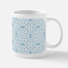 Aquamarine & White Lace Tile 2 Mug
