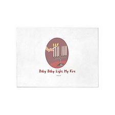 Baby Light My Fire Chanukah 5'x7'Area Rug