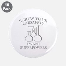 """I Want Superpowers 3.5"""" Button (10 pack)"""