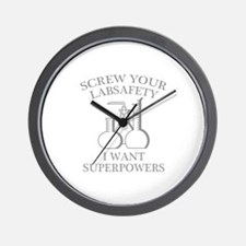 I Want Superpowers Wall Clock