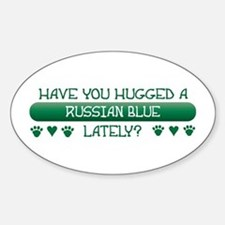 Hugged Blue Oval Decal