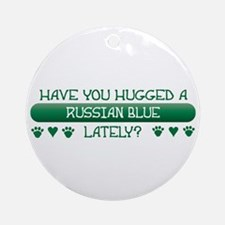 Hugged Blue Ornament (Round)