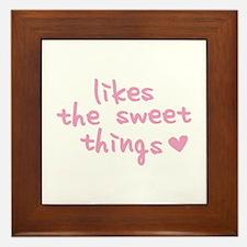 Likes The Sweet Things Framed Tile