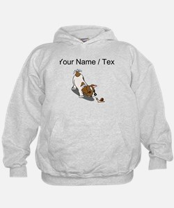 Puppy With Snail (Custom) Hoodie