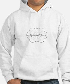 Elegant Monogram and Name Design Hoodie