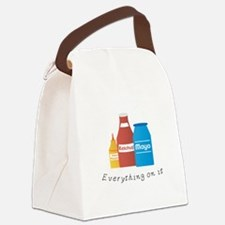 Everything On It Canvas Lunch Bag