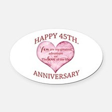 45th. Anniversary Oval Car Magnet