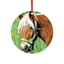 Goldie Suffolk Draft Horse Ornament (Round)