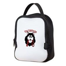 Funny Siberian husky rescue Neoprene Lunch Bag