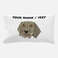 Longhaired Dachshund (Custom) Pillow Case