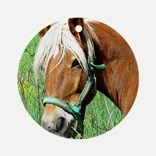 Goldie Suffolk Draft Horse Ornament (Round)