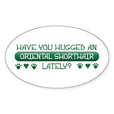 Hugged Shorthair Oval Decal