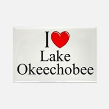 """I Love Lake Okeechobee"" Rectangle Magnet"