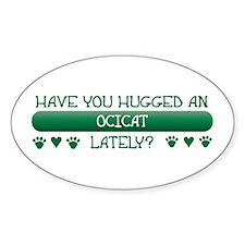 Hugged Ocicat Oval Decal