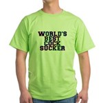 World's best cocksucker - Green T-Shirt